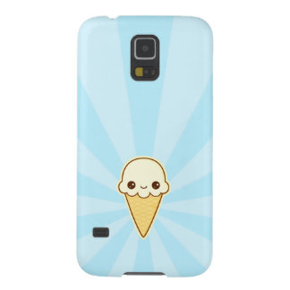 Kawaii Happy vanilla Ice cream cone Galaxy S5 Covers
