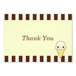 Kawaii Happy vanilla Ice cream cone Personalized Announcements