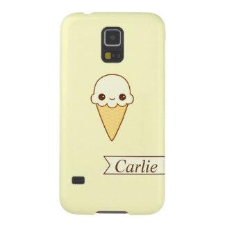 Kawaii Happy vanilla Ice cream cone personlized Galaxy S5 Covers