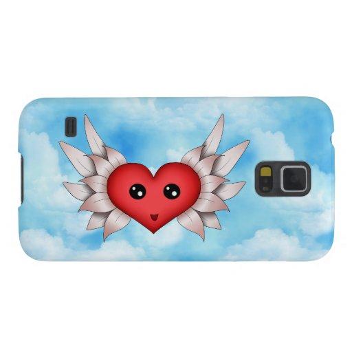 Kawaii Heart On Silver Wings Galaxy Nexus Case