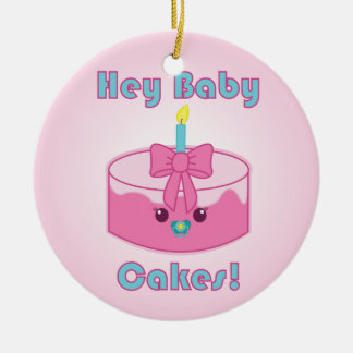 Kawaii Hey Baby Cakes ornament