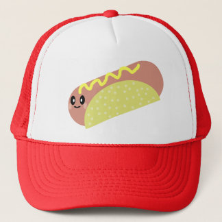 KAWAII HOT DOG SUPER DELICIOUS LUNCH TRUCKER HAT