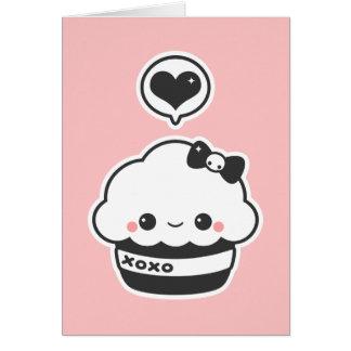 Kawaii Hugs and Kisses Cupcake Card