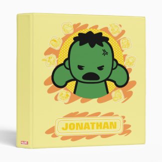 Kawaii Hulk With Marvel Hero Icons Binders