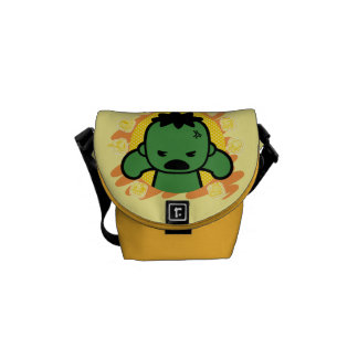 Kawaii Hulk With Marvel Hero Icons Commuter Bags