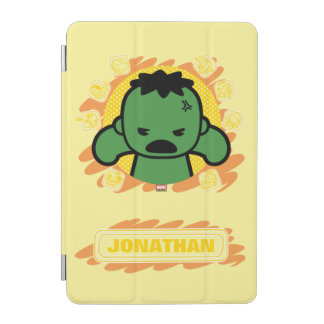 Kawaii Hulk With Marvel Hero Icons iPad Mini Cover