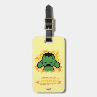 Kawaii Hulk With Marvel Hero Icons Luggage Tag