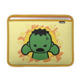 Kawaii Hulk With Marvel Hero Icons MacBook Sleeve