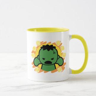 Kawaii Hulk With Marvel Hero Icons Mug