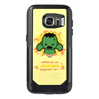 Kawaii Hulk With Marvel Hero Icons OtterBox Samsung Galaxy S7 Case