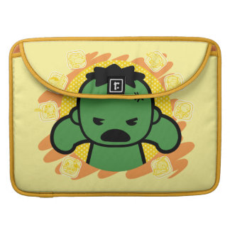 Kawaii Hulk With Marvel Hero Icons Sleeve For MacBook Pro