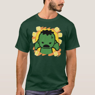 Kawaii Hulk With Marvel Hero Icons T-Shirt
