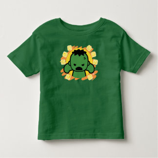 Kawaii Hulk With Marvel Hero Icons Toddler T-shirt