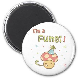 Kawaii I am a Fungi Party Mushroom Pun Humor Magnet