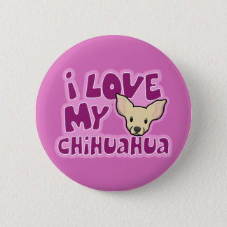 Kawaii I Love My Chihuahua 2 Inch Round Button