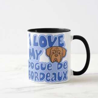Kawaii I Love My Dogue de Bordeaux Mug