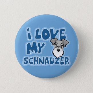 Kawaii I Love My Schnauzer 2 Inch Round Button