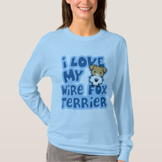 Kawaii I Love My Wire Fox Terrier T-Shirt