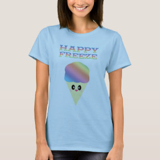 KAWAII ICE CREAM CONE RAINBOW HAPPY FREEZE T-Shirt