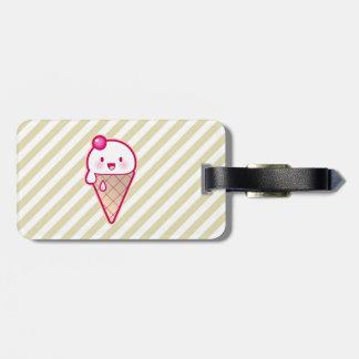 Kawaii Ice Cream Luggage Tag