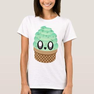 KAWAII ICE CREAM MINT CHOCOLATE CHIP CONE T-Shirt