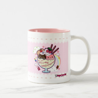 Kawaii Ice Cream Two-Tone Coffee Mug