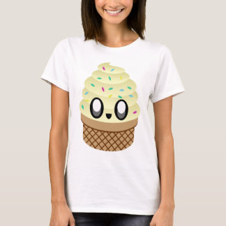 KAWAII ICE CREAM VANILLA CONE T-Shirt