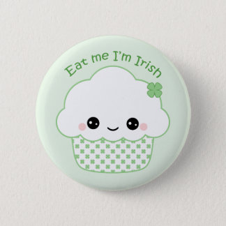 Kawaii Irish Cupcake 2 Inch Round Button