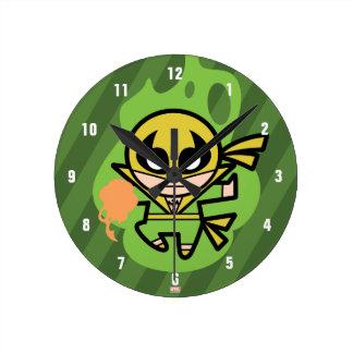 Kawaii Iron Fist Chi Manipulation Round Clock