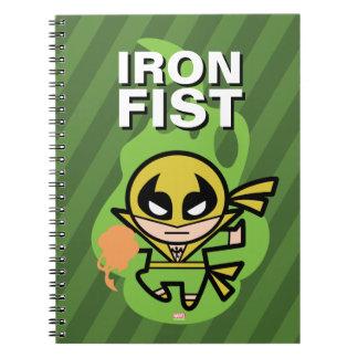 Kawaii Iron Fist Chi Manipulation Spiral Notebook
