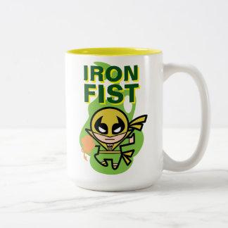 Kawaii Iron Fist Chi Manipulation Two-Tone Coffee Mug