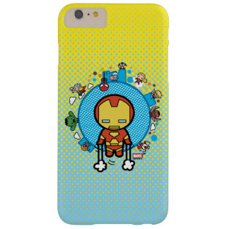Kawaii Iron Man With Marvel Heroes on Globe Barely There iPhone 6 Plus Case