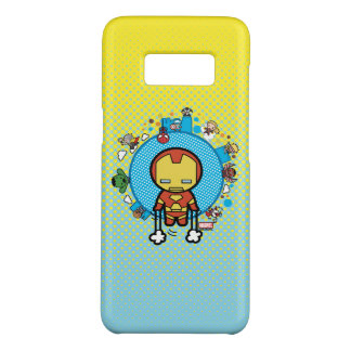 Kawaii Iron Man With Marvel Heroes on Globe Case-Mate Samsung Galaxy S8 Case