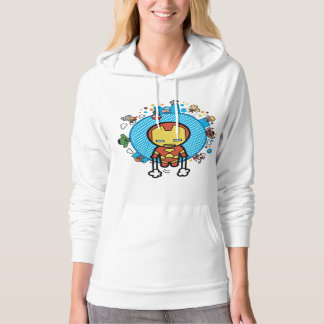 Kawaii Iron Man With Marvel Heroes on Globe Hoodie