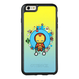 Kawaii Iron Man With Marvel Heroes on Globe OtterBox iPhone 6/6s Plus Case