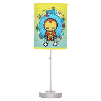 Kawaii Iron Man With Marvel Heroes on Globe Table Lamp