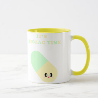 Kawaii It'S Prozac Time Cute Drugs Mug