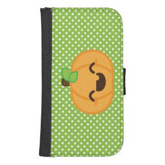 Kawaii Jack O Lantern Pumpkin Samsung Wallet Case Galaxy S4 Wallet Case
