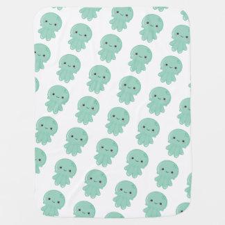 Kawaii Jellyfish Baby Blanket