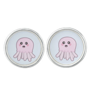 Kawaii Jellyfish Cuff Links