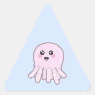 Kawaii Jellyfish Triangle Sticker
