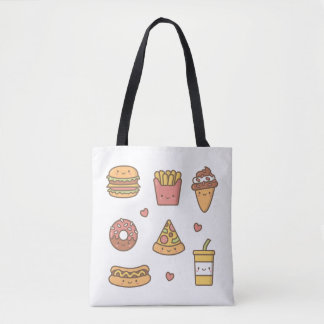 Kawaii Junk Food Girls Tote Bag