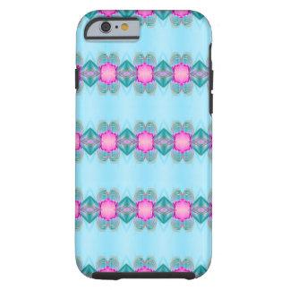 Kawaii Kaleidoscope Art Simple Blue Pink Tough iPhone 6 Case