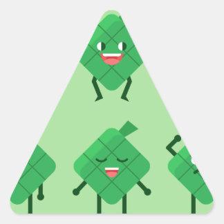 kawaii Ketupat Triangle Sticker