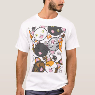 Kawaii Kitty - Casual Men's T-Shirt
