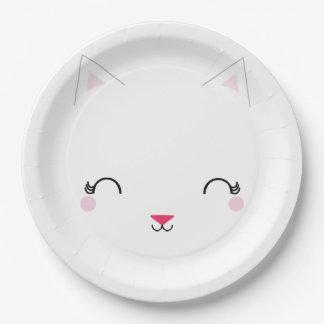 kawaii kitty CAT BIRTHDAY party plate
