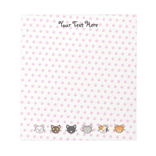 """Kawaii Kitty Notepad - 5.5"""" x 6"""""""