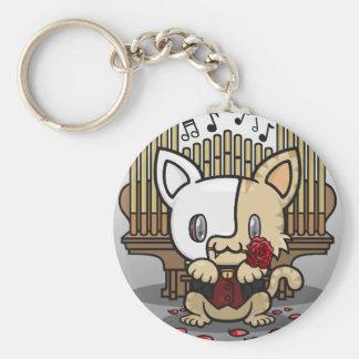 Kawaii Kitty (Phantom of the Opera) Basic Round Button Keychain