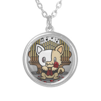 Kawaii Kitty (Phantom of the Opera) Silver Plated Necklace