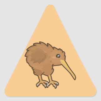 Kawaii Kiwi Triangle Sticker